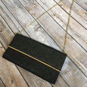Vintage Black & Gold clutch